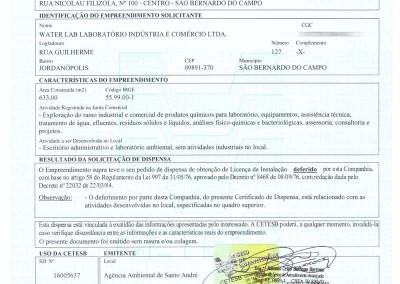 LICENSA DE INSTALAÇÃO CETESB