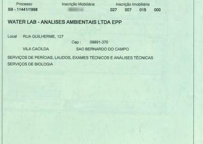 ALVARÁ DE FUNCIONAMENTO PREFEITURA DE SBC